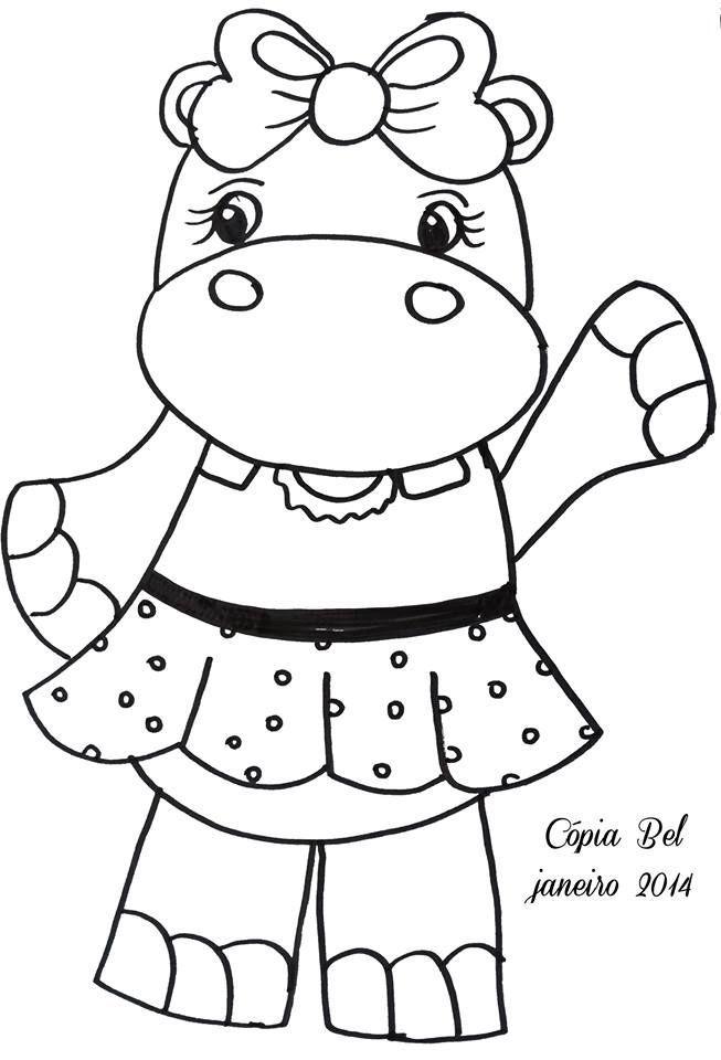 hipopotamo   Laminas decoupage   Pinterest   Hipopótamo, Moldes y ...