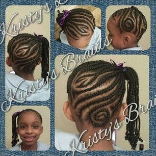 Cornrows Into A Braided Side Ponytail Little Girl Braids Lil