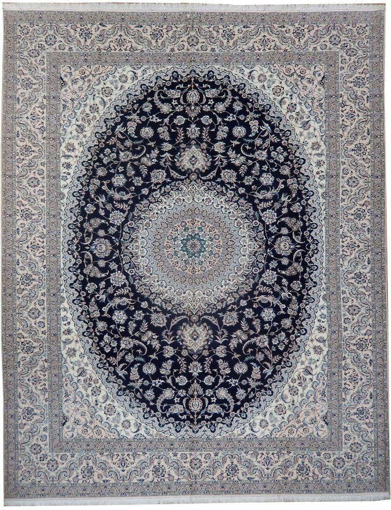 9u0027 X 11u0027 Hand Knotted Persian Nain Area Rug Habibian ...