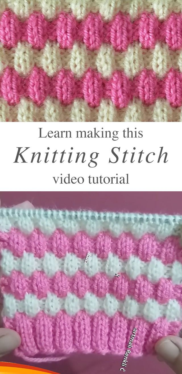 Knit Stitch That Makes A Lovely 3D Pattern | CrochetBeja #knittingdesigns