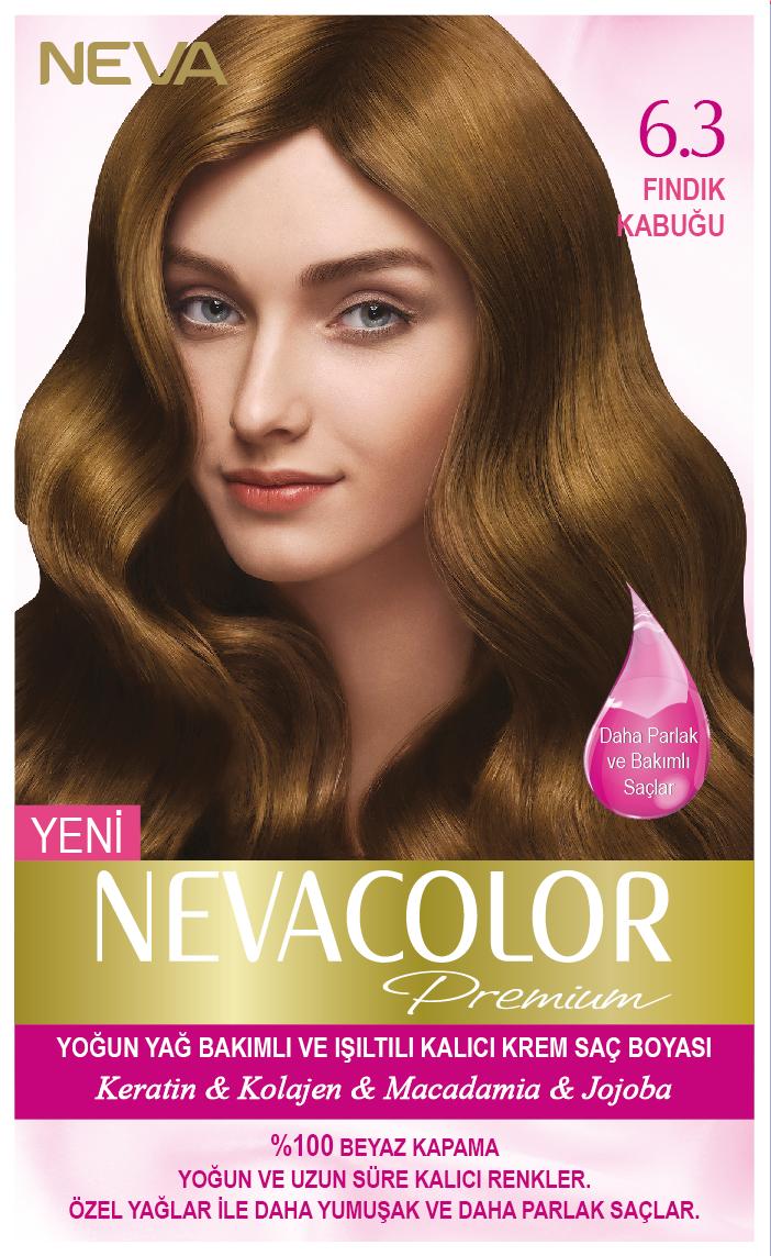 Nevacolor Premium 6 3 Findik Kabugu Kalici Krem Sac Boyasi Seti