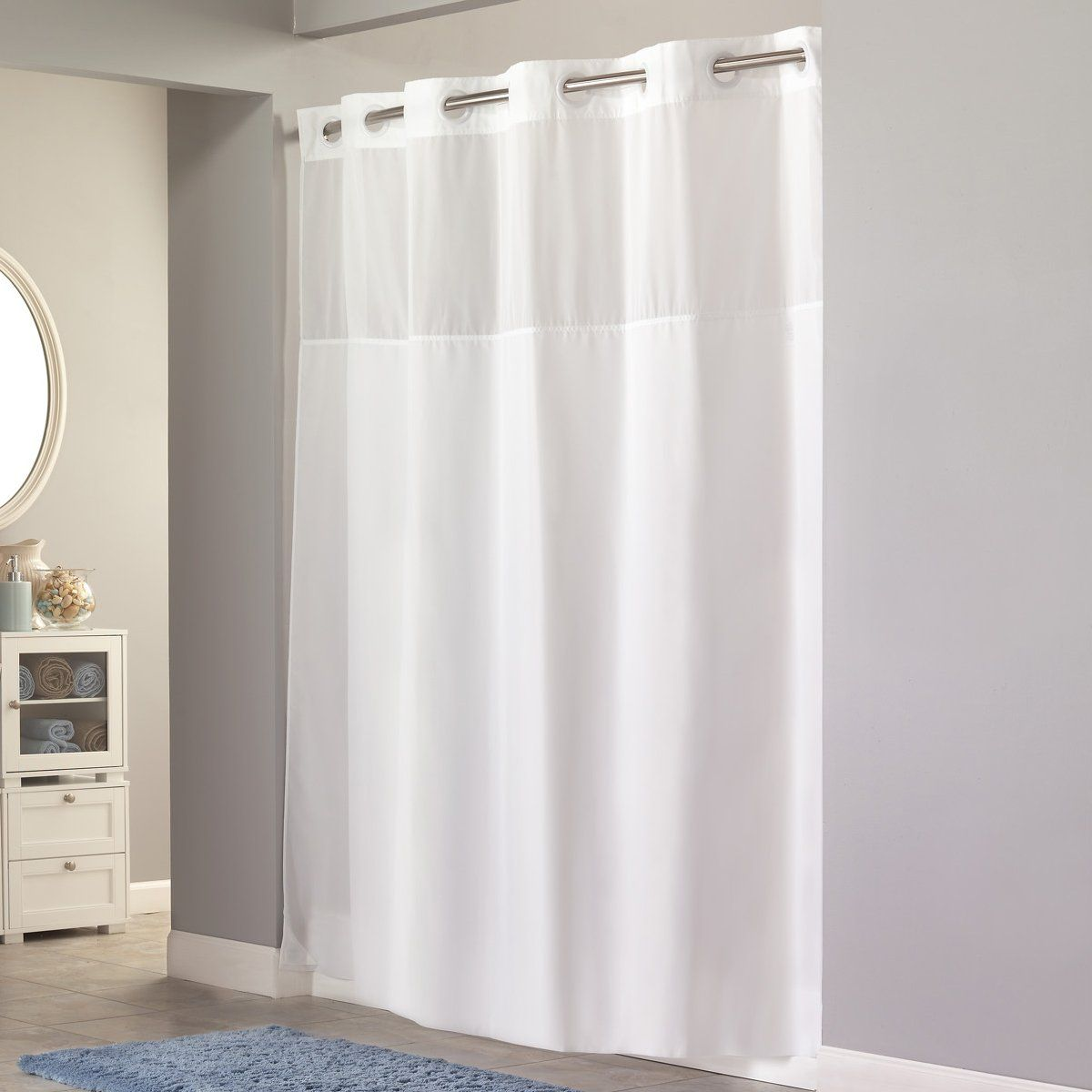 Like the hookless look for master bath new home items pinterest