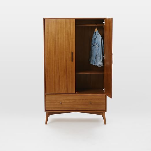 Mid Century Wardrobe Acorn West Elm Entryway Furniture Tall Cabinet Storage Wardrobe