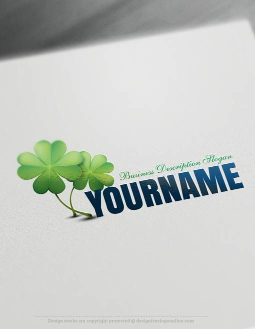 Create a logo Free - Free logo maker - Clover Logo Template ...