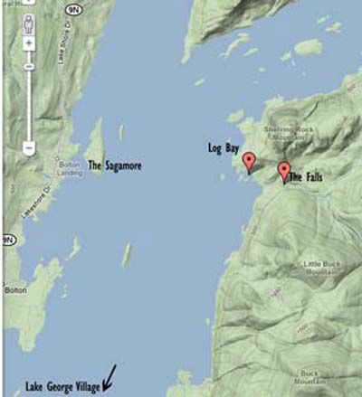 Map Of Shelving Rock Trail - Lake George, NY | Lorrie | Rock ...