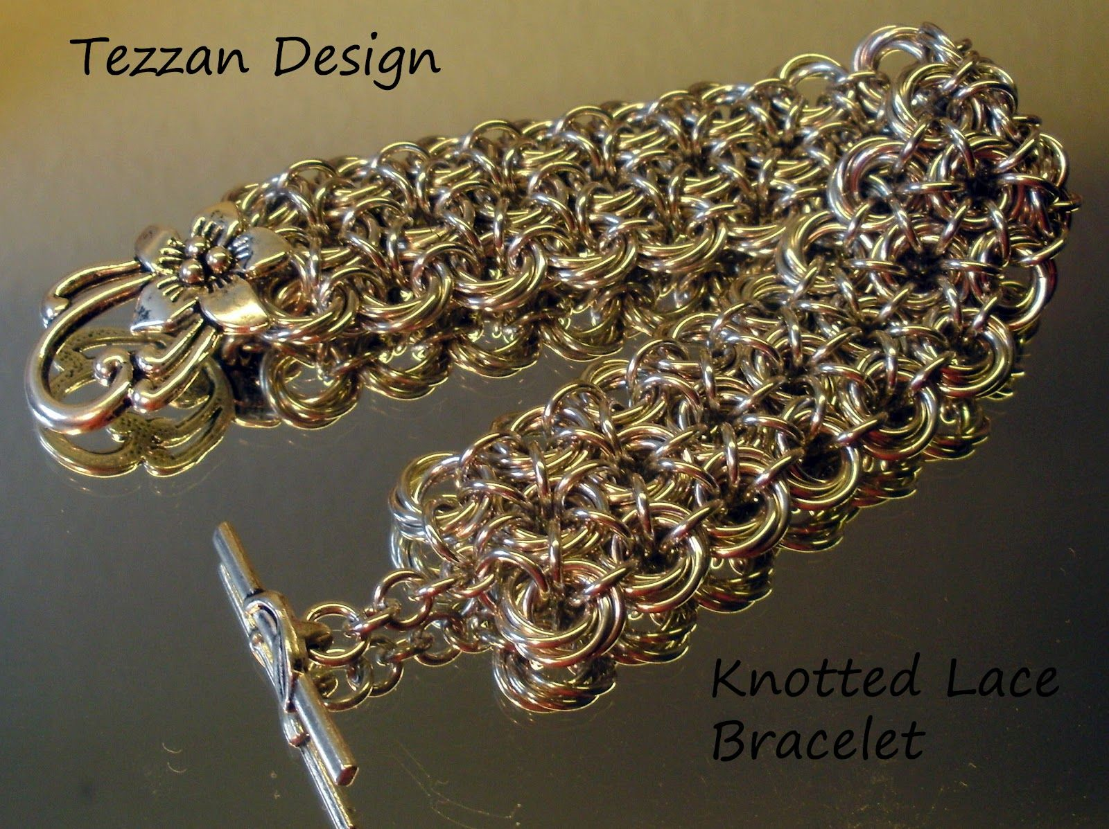 Chain maille bracelet chain maille by tezzan pinterest chains