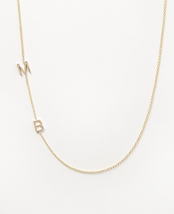 Maya brenner double initial necklace in yellow gold all my kiddos maya brenner double initial necklace in yellow gold all my kiddos initials when mozeypictures Images