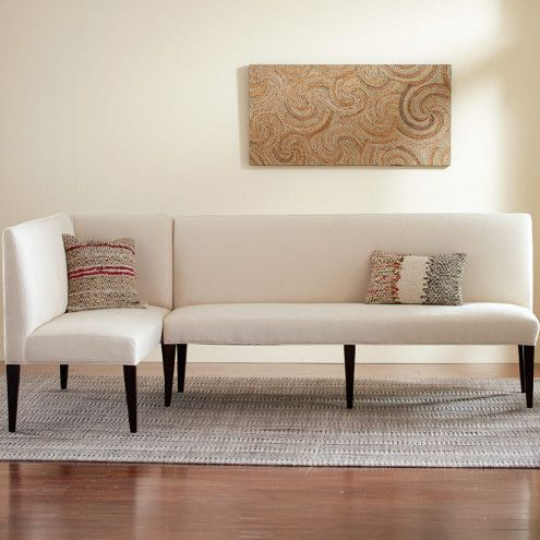Eco Linen Sectional Settee U0026 Dining Banquette