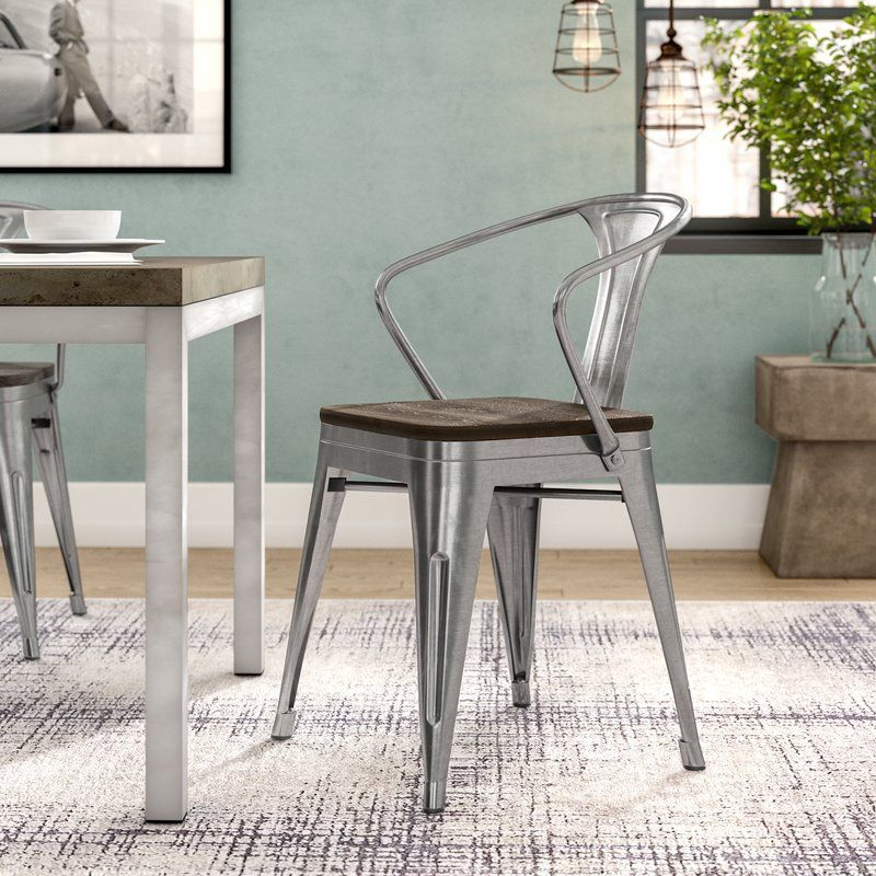 Ashlyn arm chair with slat back solid wood dining chairs