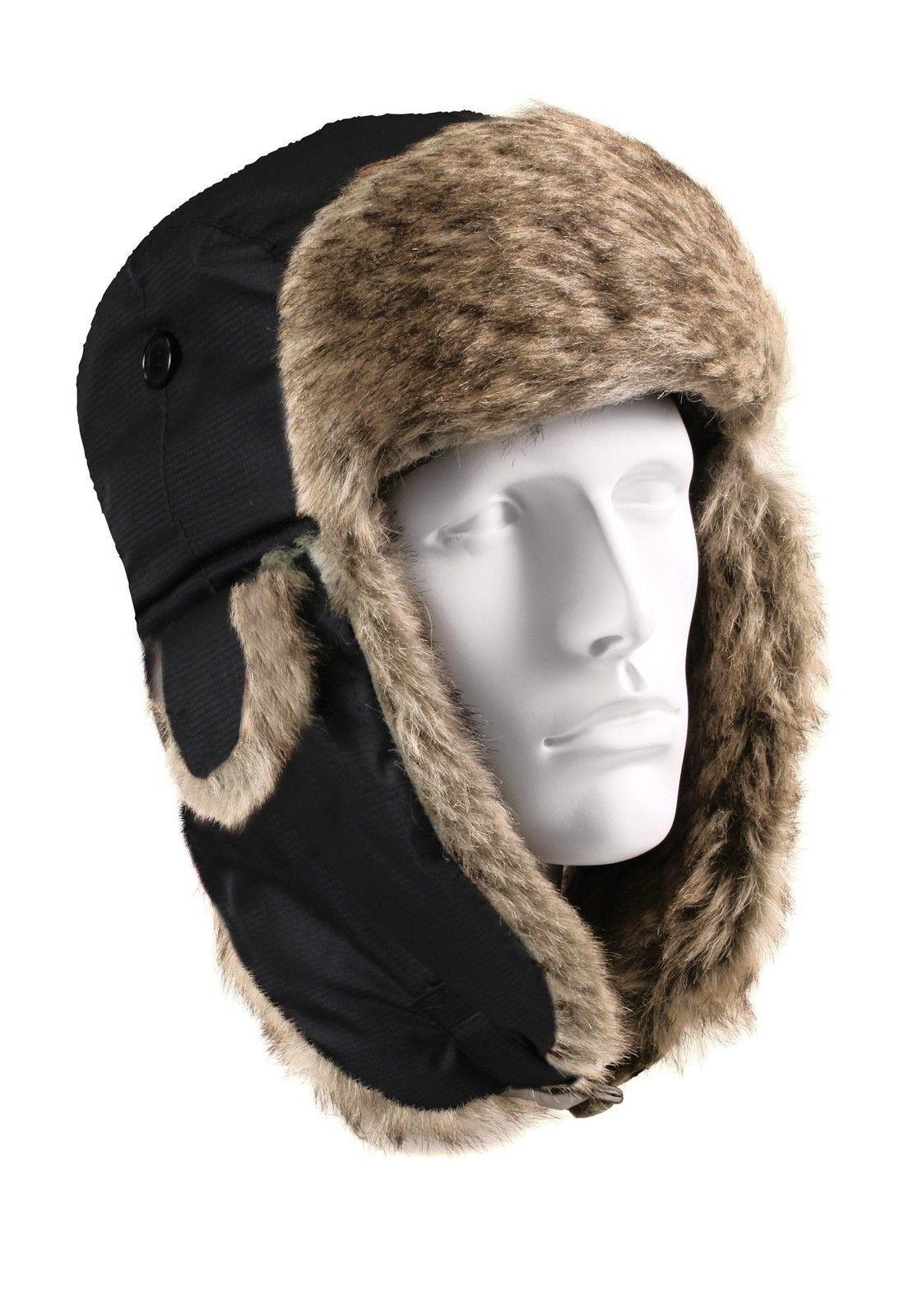 74092f79 Winter Fur Flyers Hat w/ Earflaps Warm Camo Plaid Cold Weather Cap Hats  7-7.75