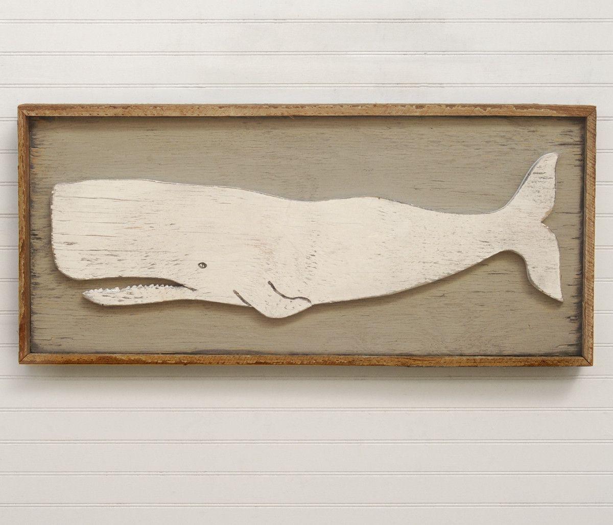 Folk Whale Wall Art Wooden Whale Wall Decor Whale Art Whale