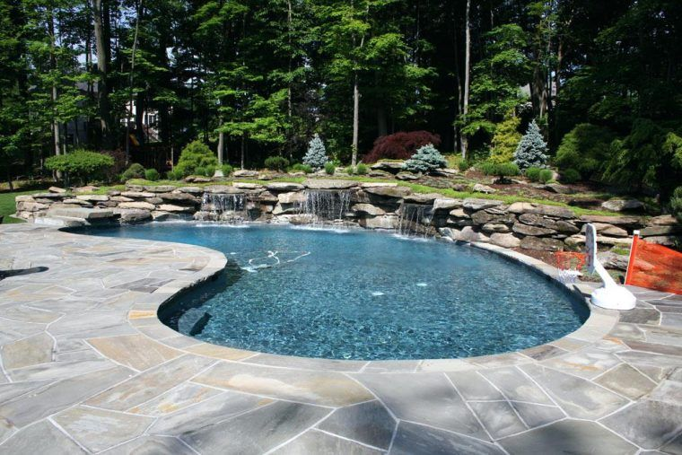 Pool Landscaping With River Rocks Above Ground Pool Landscaping