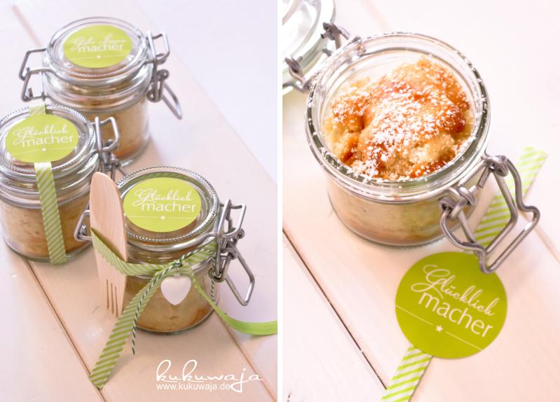 kukuwaja Runder Birnenkuchen  Verpackungsidee Kuchen im