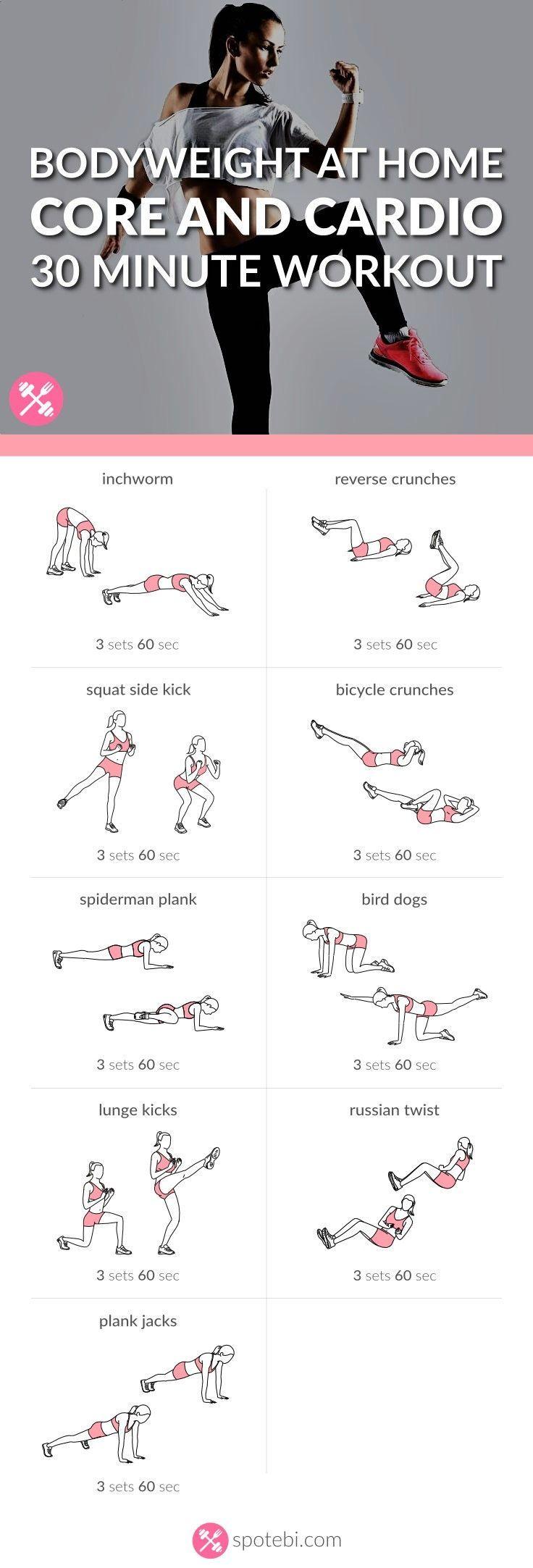 Trainieren Sie Ihre Bauchmuskeln, Schrägflächen und den unteren Rücken mit diesem Kern- und Cardiotraining. Increa ... - Sport und Frauen #coreworkouts