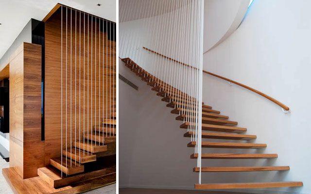 Ideas para decorar con barandillas y pasamanos escaleras - Barandillas para escaleras interiores modernas ...