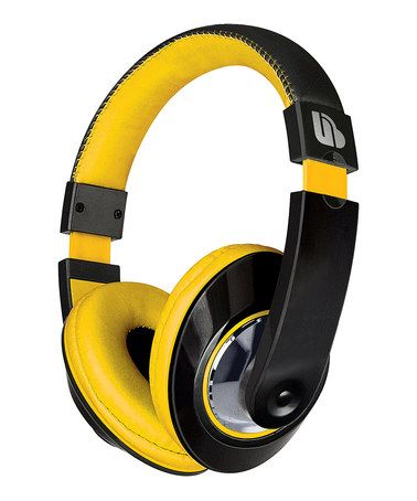Take a look at this Black & Yellow Urban Beatz TEMPO Headphones by Merkury Innovations on #zulily today!