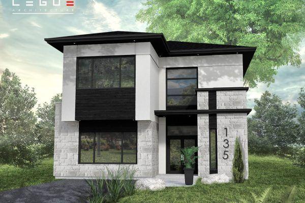 Plan de Maison Moderne Ë_135 Leguë Architecture Modern Homes 2 - Plan De Maison Moderne