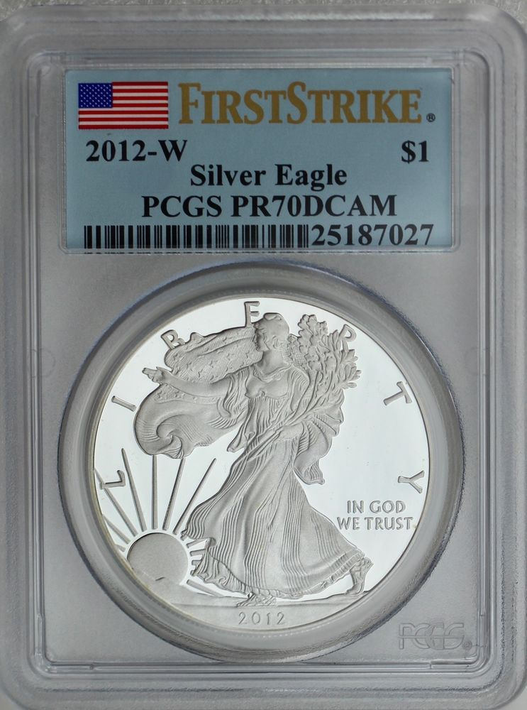 PCGS MS69 2012 American Silver Eagle First Strike Label