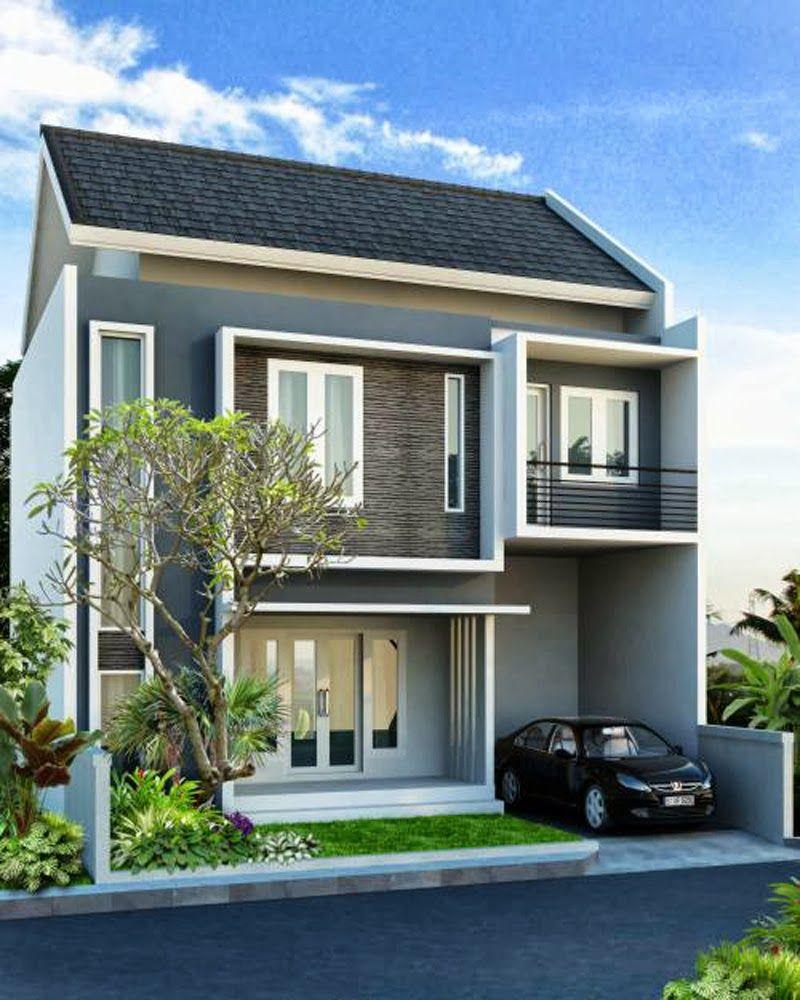 Contoh Desain Rumah 2 Lantai Atap Pelana Cek Bahan Bangunan