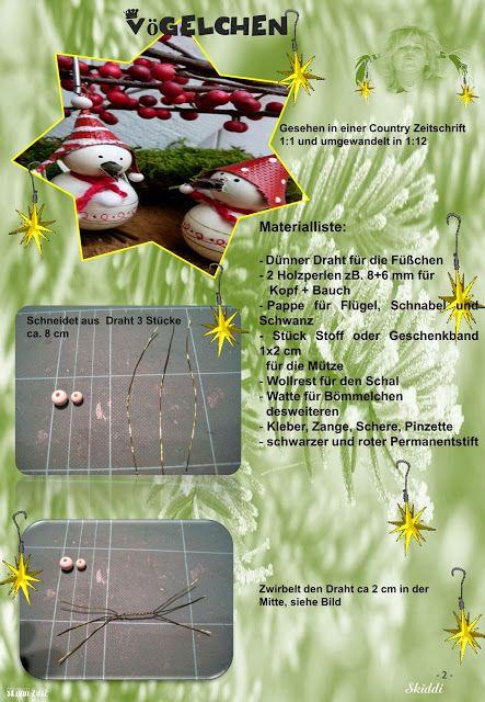 Skiddis bunte Miniaturwelt 1:12: Vögelchen | Mini Tutorials ...