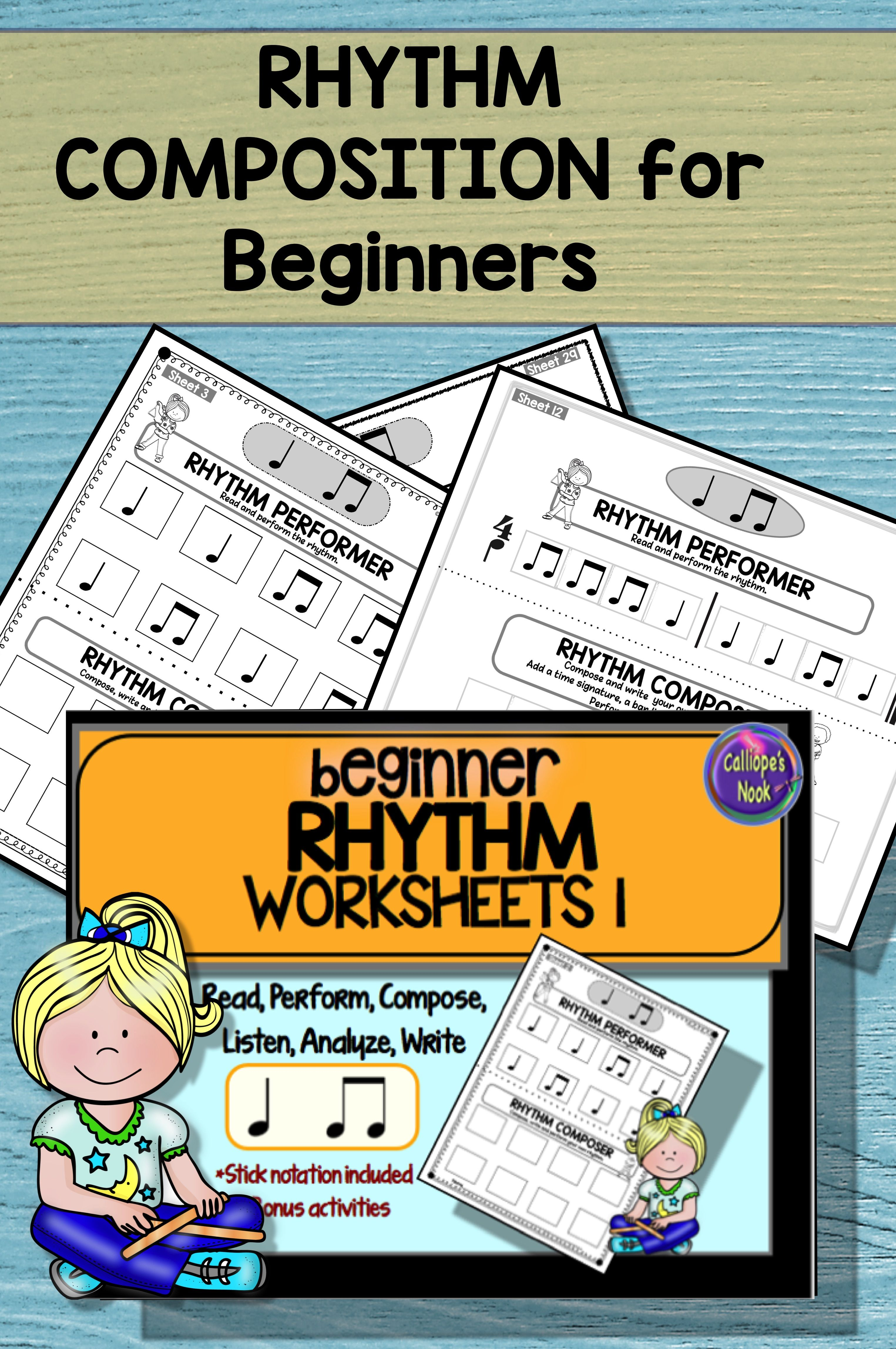Keep Students Engaged With Simple Reading Composition Form And Performance Rhythm Activities This Packe Rhythm Worksheets Music Vocabulary Rhythm Activities [ 4591 x 3050 Pixel ]