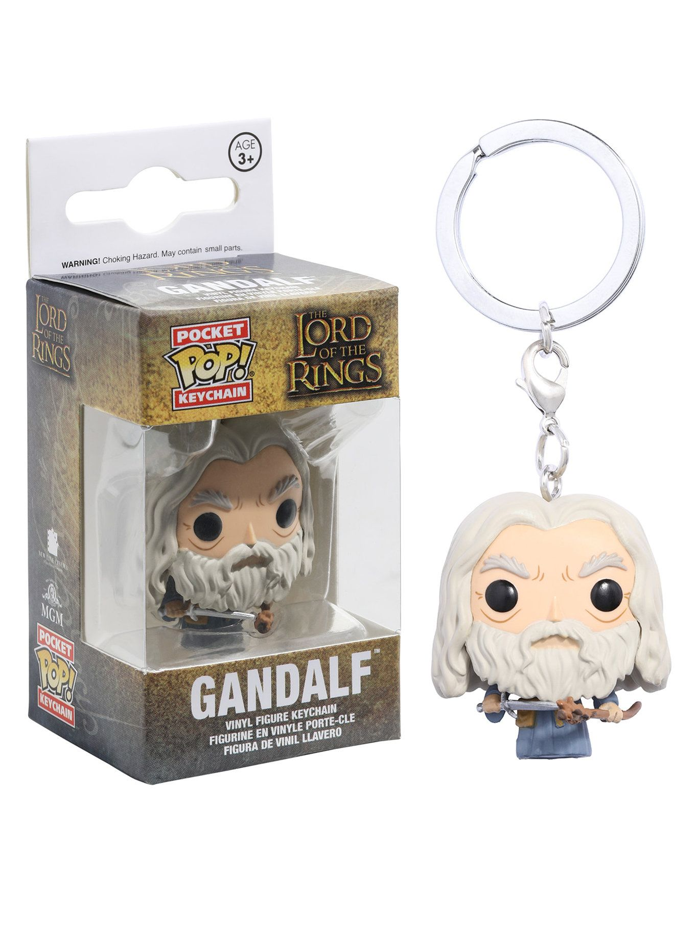 """GANDALF 2/"""" POCKET POP KEYCHAIN VINYL FIGURE FUNKO THE LORD OF THE RINGS"""