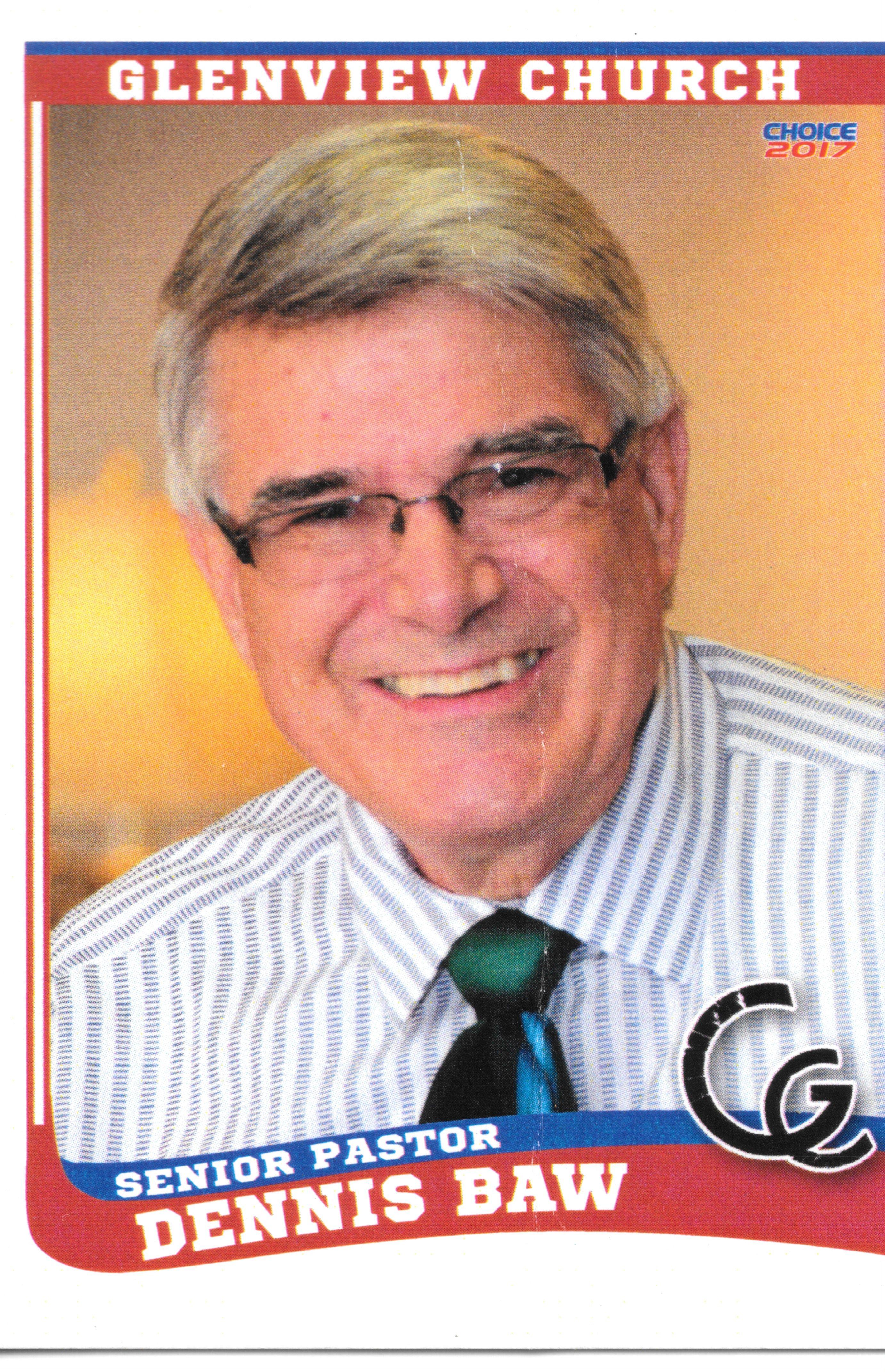 Pastor Baw Baseball Front Pastor Church Glenview
