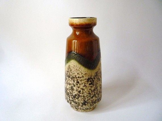etsy find // vintage: west german lava pottery, $29 - yummmmmm.