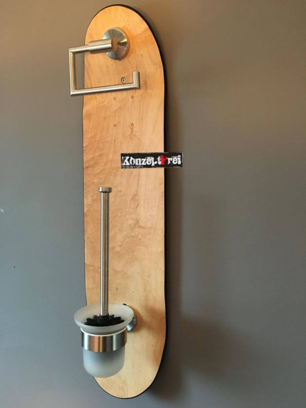 WC Set Skateboard Klopapierhalter WC Garnitur