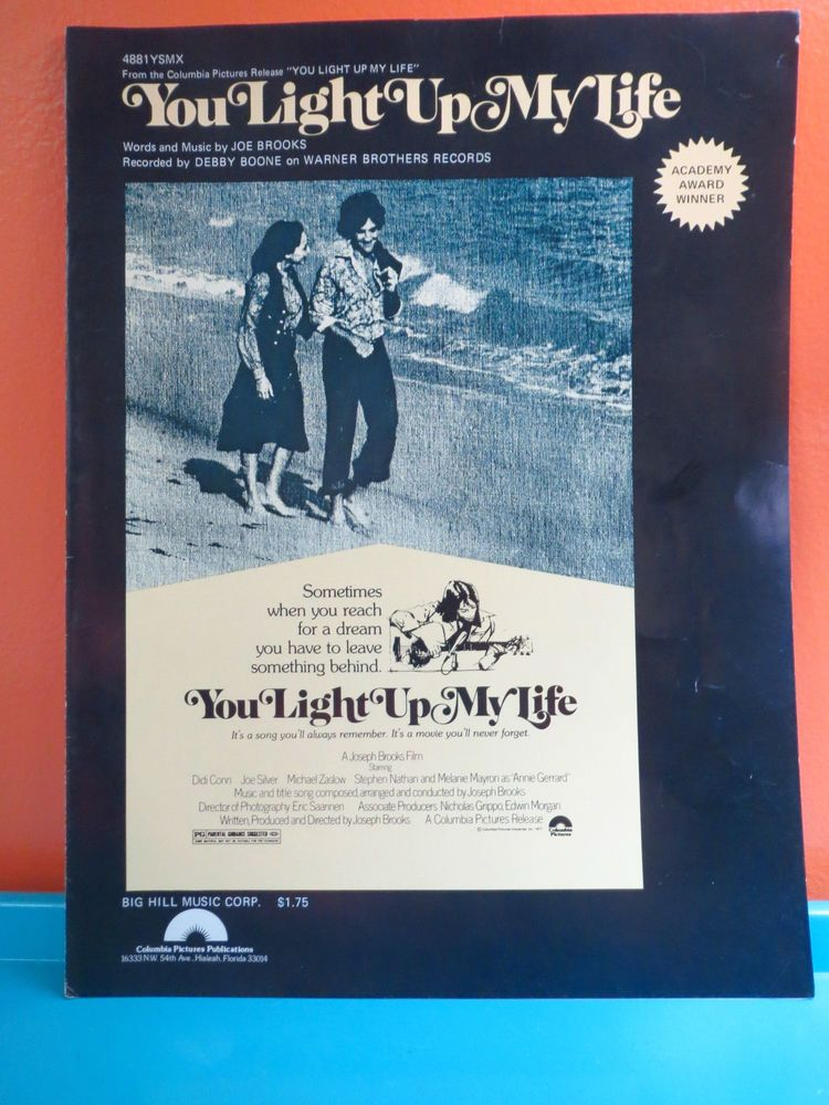 VTG 1970s Music Song Sheet 1977 Debby Boone You Light Up My Life Movie Retro