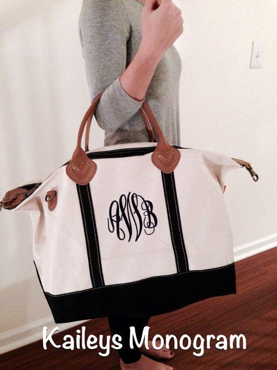 Bridesmaid Weekender Bag Personalized