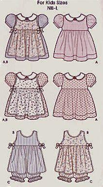 Easy Baby's Dress Pinafore Bloomers Sewing Pattern - OOP & last one!