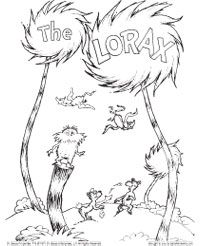 dr seuss week lorax coloring page - Dr Seuss Coloring Pages