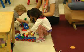 Photo of Filling the Trains- Illinois Early Learning Project. This video takes place in a…