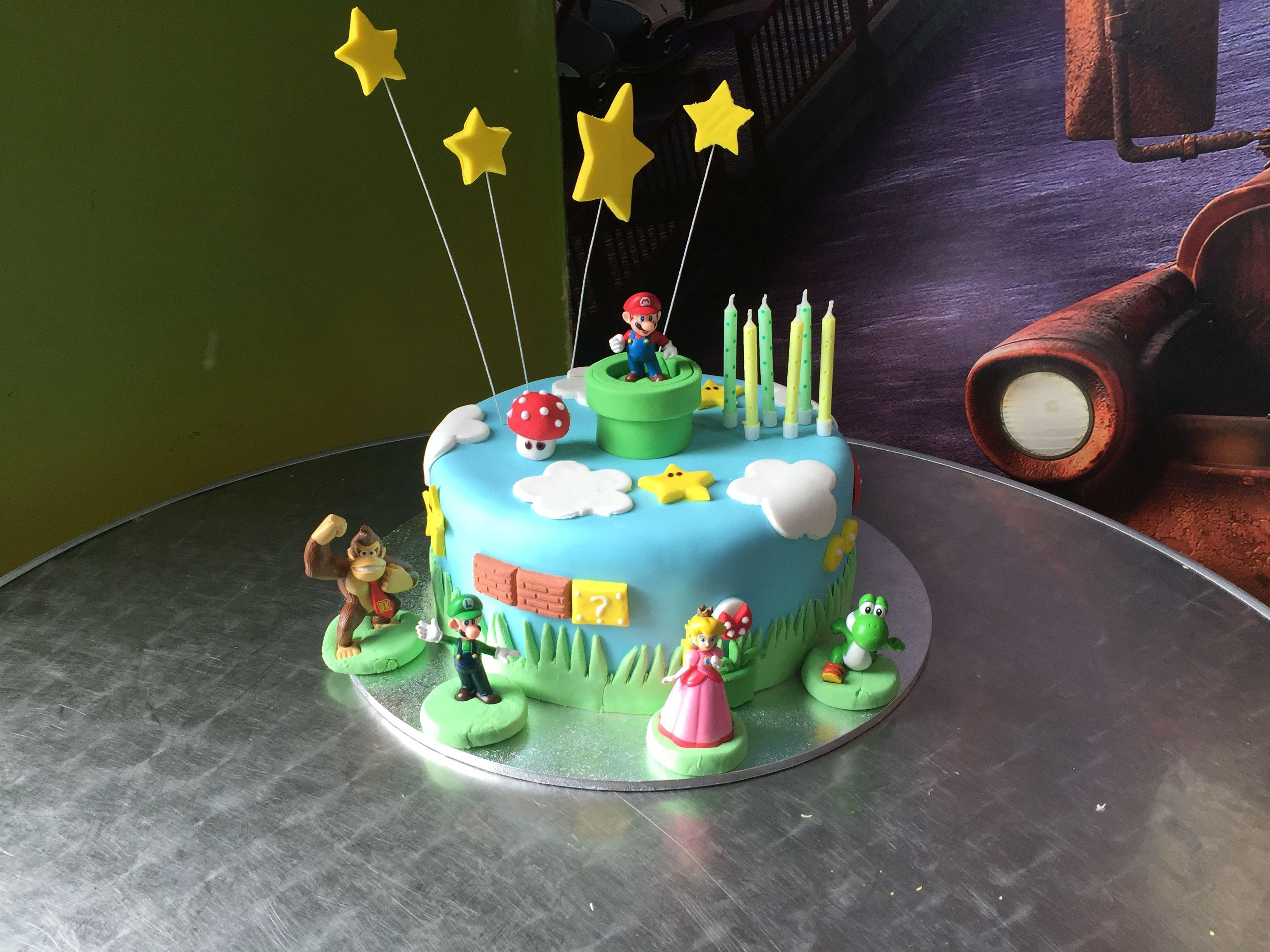 Super Mario Bros cake for Lucas' 6th birthday party