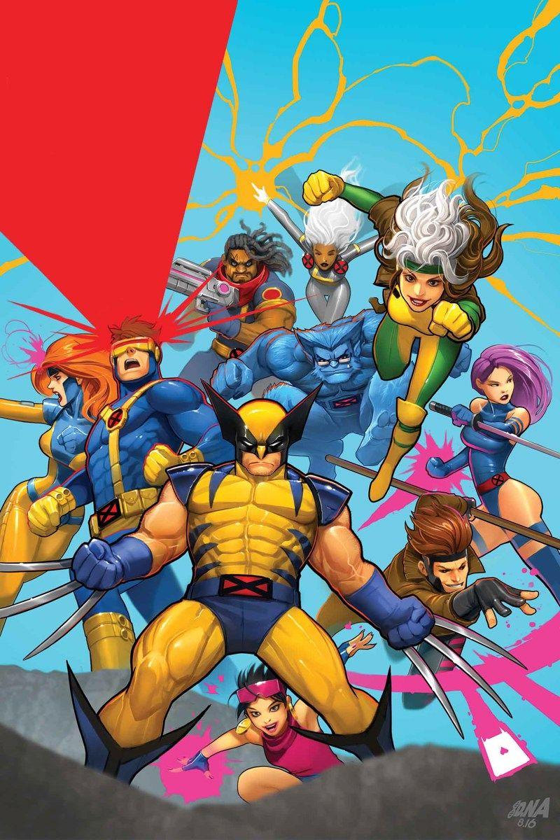 X Men 92 No 10 Cover Series Finale By Dna 1 X Men Marvel Superheroes Marvel Comics Art