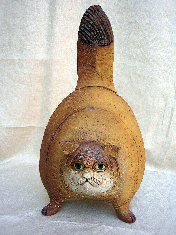 Katzen 58 - Keramik katzen fur garten ...