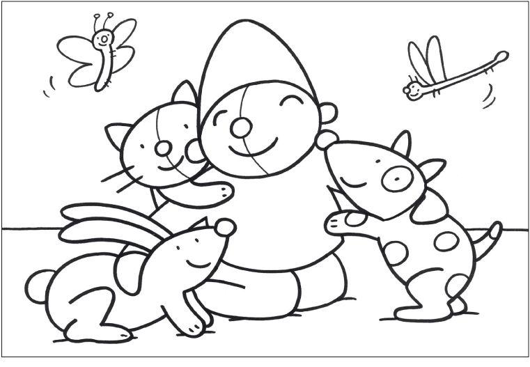Kleurplaten Van Huisdieren.Kleurplaat Pompom Huisdieren Dieren Huisdieren En