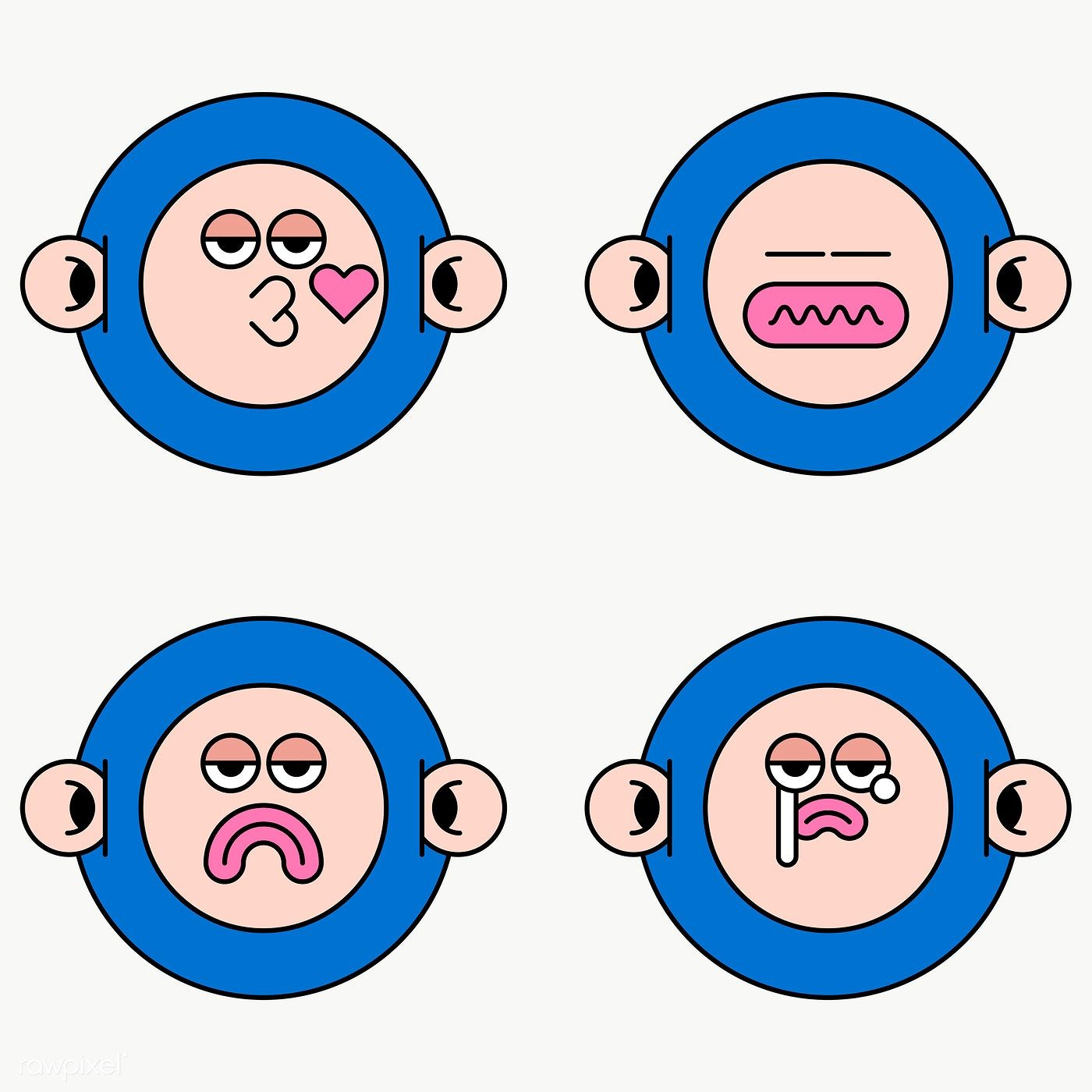 Cool Monkey Monster Sticker Set Transparent Png Free Image By Rawpixel Com Te Monster Stickers Sticker Set Vector Free