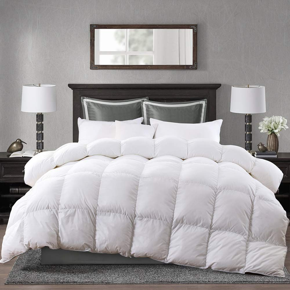 Aikoful Goose Down Comforter King Sizesolid White Duvet