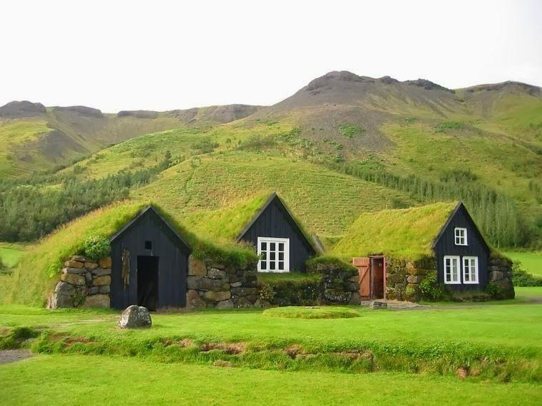 Icelandic Turf House Houses Turf Pinterest House