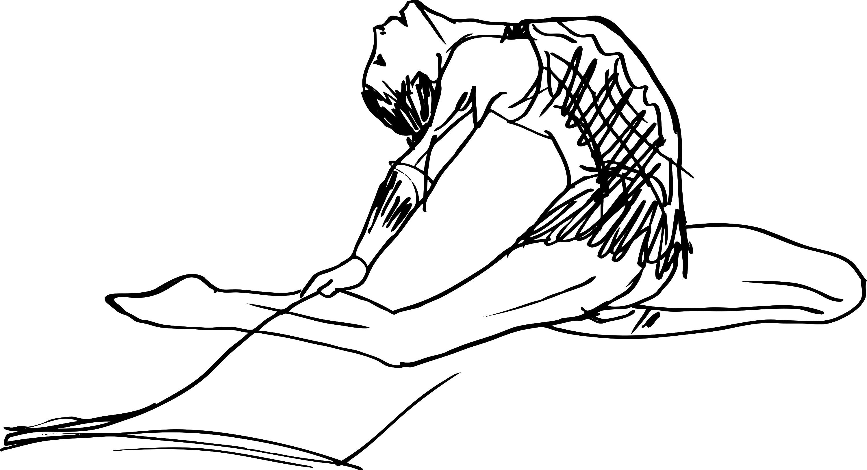 Free coloring pages gymnastics