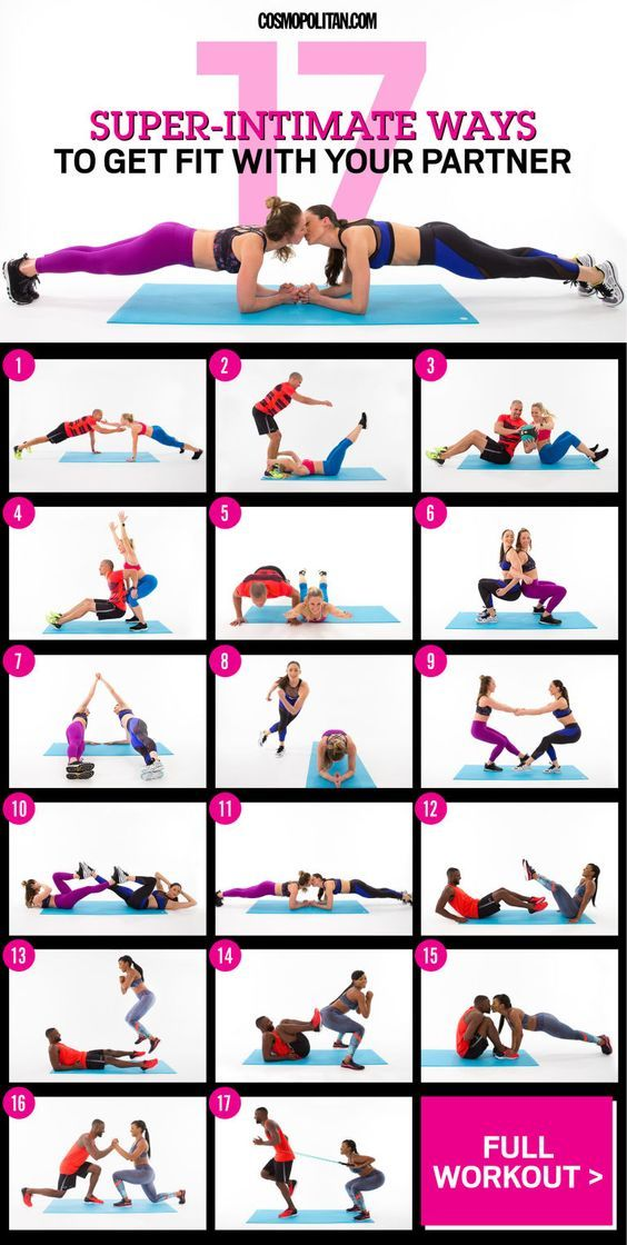 17 Super Intimate Ways To Get Fit With Your Partner Couples Workout Routine Partner Workout Fun Workouts