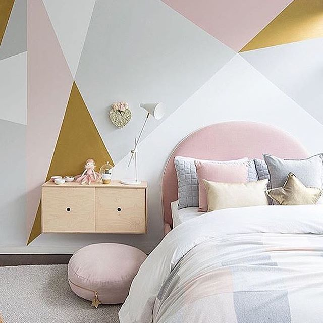 Geo Goodness With Our Diy Wall Mural Using Our Favourite Combo Of