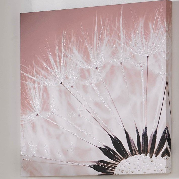 Delicate Dandelion With Glitter - Canvas Art Graham and Brown