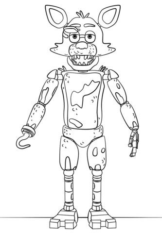 five nights at freddy coloring pages foxy FNAF Toy Foxy Coloring page | lilys | FNAF, Fnaf coloring pages  five nights at freddy coloring pages foxy