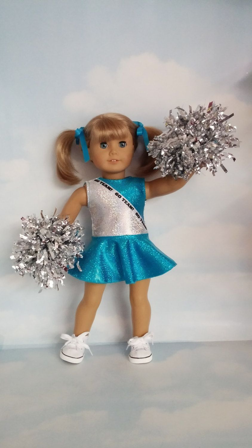 Last One! - 18 inch doll clothes - Aqua and Silver Cheerleader Outfit Handmade to fit the American girl doll #18inchcheerleaderclothes 18 inch doll clothes -  Aqua and Silver Cheerleader Outfit  Handmade to fit the American girl doll by susiestitchit on Etsy #18inchcheerleaderclothes Last One! - 18 inch doll clothes - Aqua and Silver Cheerleader Outfit Handmade to fit the American girl doll #18inchcheerleaderclothes 18 inch doll clothes -  Aqua and Silver Cheerleader Outfit  Handmade to fit the #18inchcheerleaderclothes