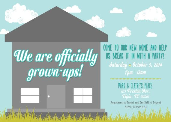 Super Fun Housewarming Invitation  Entertaining    House
