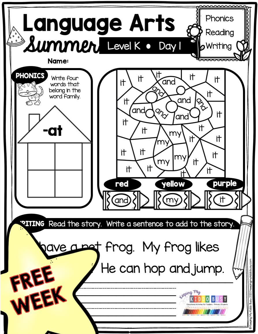 Household Chores Worksheet For Kindergarten