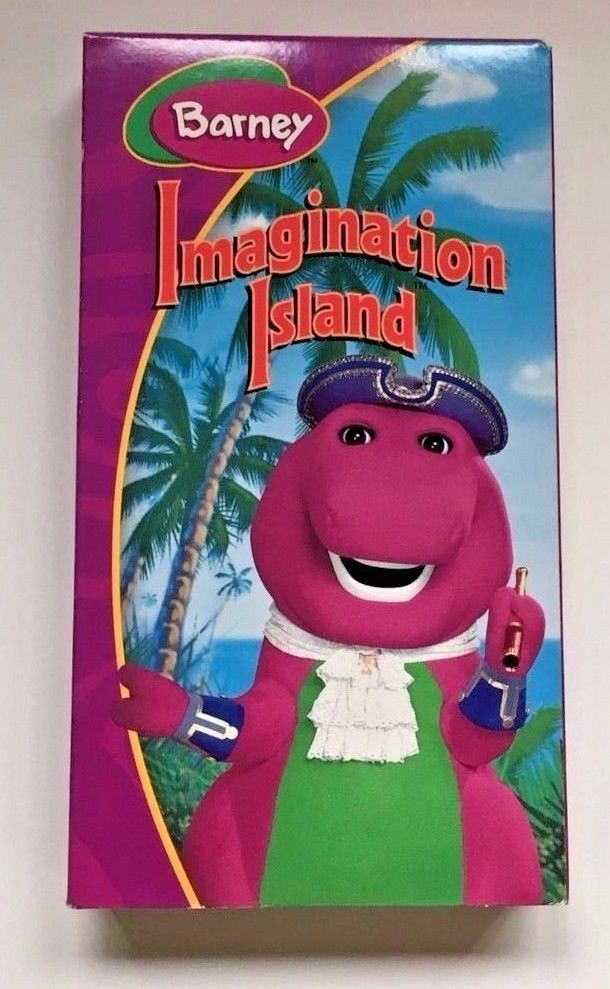 Barney Imagination Island VHS Book New In Packaging t